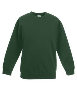 Afbeelding van Premium set-in Kids sweatshirt Fruit of the Loom Bottle Green