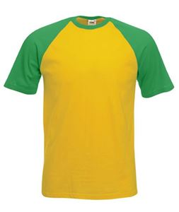 Afbeelding van Baseball T Fruit of the Loom Sunflower / Kelly Green