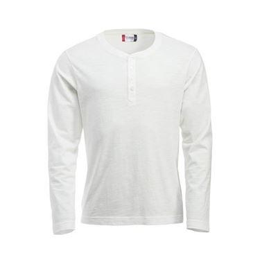Picture of Clique Orlando T-shirt lange mouw Wit