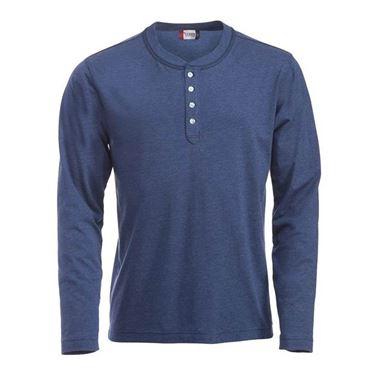 Picture of Clique Orlando T-shirt lange mouw Blauw gemeleerd