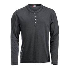 Picture of Clique Orlando T-shirt lange mouw Antraciet grijs gemeleerd