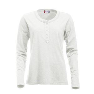 Afbeelding van Clique Orlando Ladies T-shirt lange mouw Wit