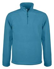 Picture of Enzo - Fleece met ritskraag Kariban Tropical Blue