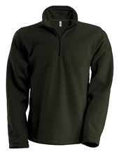 Picture of Enzo - Fleece met ritskraag Kariban Olive Green