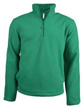 Picture of Enzo - Fleece met ritskraag Kariban Kelly Green