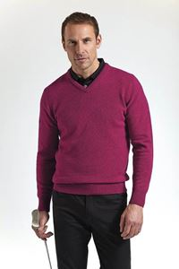 Afbeelding van Glenmuir Mens V-neck Lambswool Golf Sweater