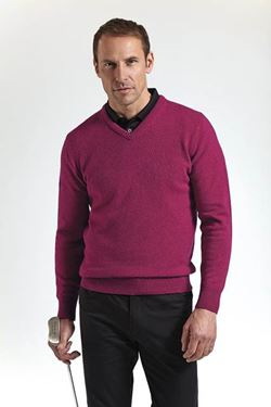 Picture of Glenmuir Mens V-neck Lambswool Golf Sweater