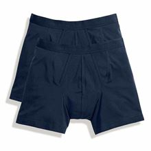 Picture of 2 pack Classic Boxer Shorts Fruit of the Loom Navy