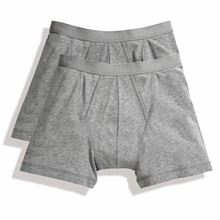 Picture of 2 pack Classic Boxer Shorts Fruit of the Loom Grey