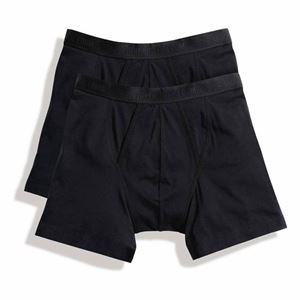 Afbeelding van 2 pack Classic Boxer Shorts Fruit of the Loom Black