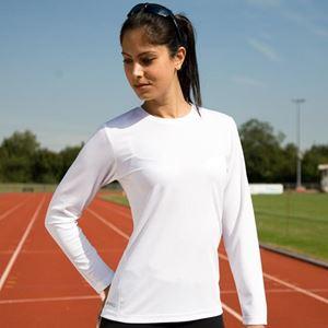 Afbeelding van Sneldrogend Dames Sport T-shirt lange mouw