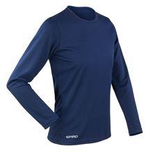 Picture of Sneldrogend Dames Sport T-shirt lange mouw Navy