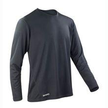 Picture of Sneldrogend Heren Sport T-shirt lange mouw Black