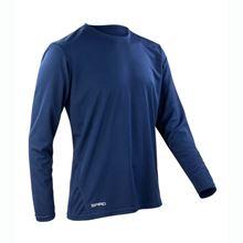 Picture of Sneldrogend Heren Sport T-shirt lange mouw Navy