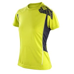 Afbeelding van Cool-Dry Spiro Ladies Training Shirt Neon Lime / Grey