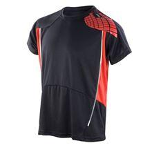 Picture of Cool-Dry Spiro Heren Training Shirt Black / Red