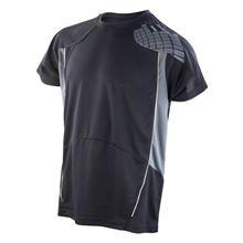 Picture of Cool-Dry Spiro Heren Training Shirt Black / Grey