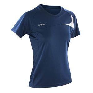 Afbeelding van Women's Spiro dash training shirt Navy / White
