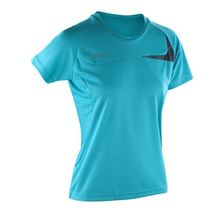 Picture of Women's Spiro dash training shirt Aqua / Grey