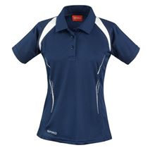 Picture of Dames team polo Spirit Navy / White