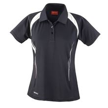 Picture of Dames team polo Spirit Black / White