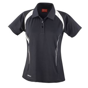 Afbeelding van Dames team polo Spirit Black / White