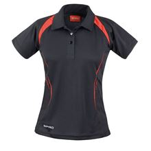 Picture of Dames team polo Spirit Black / Red