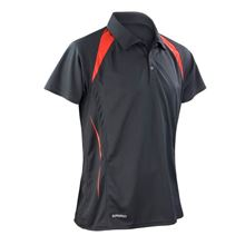 Picture of Heren team polo Spirit Black / Red