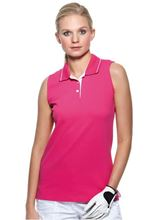Picture of  Women's Gamegear® proactive sleeveless polo Raspberry / White