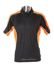 Picture of Gamegear Cooltex active polo shirt Black / Orange