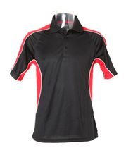 Picture of Gamegear Cooltex active polo shirt Black / Red