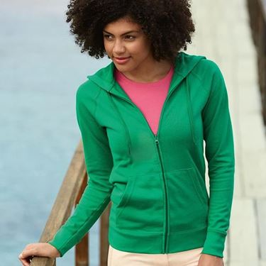 Picture of Fruit of the Loom Lady-fit Lightweight Hooded Sweatshirt Jacket