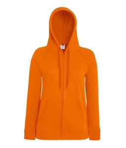 Afbeelding van Fruit of the Loom Lady-fit Lightweight Hooded Sweatshirt Jacket Orange