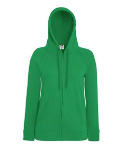 Afbeelding van Fruit of the Loom Lady-fit Lightweight Hooded Sweatshirt Jacket Kelly Green