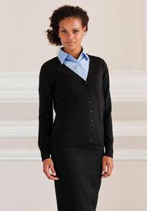 Afbeelding van Ladies V-neck Cardigan Russell Collection