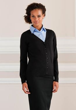 Picture of Ladies V-neck Cardigan Russell Collection