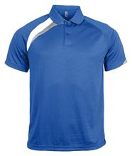 Picture of Heren Sportpolo korte mouwen Proact Royal Blue / White / Storm Grey