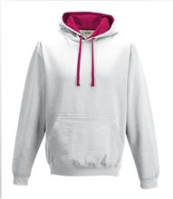 Picture of Varsity Hoodie Arctic White - Hot Pink