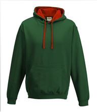 Picture of Varsity Hoodie Bottle Green - Fire Red