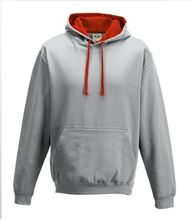 Picture of Varsity Hoodie Heather Grey - Fire Red