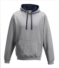 Picture of Varsity Hoodie Heather Grey - French Navy