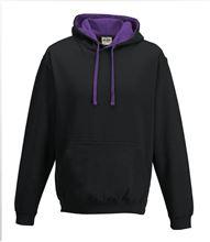 Picture of Varsity Hoodie Jet Black - Purple