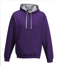 Picture of Varsity Hoodie Purple - Heather Grey