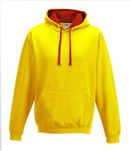Picture of Varsity Hoodie Sun Yellow - Fire Red
