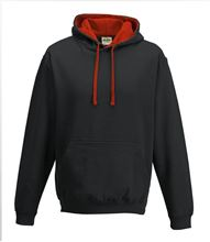 Picture of Varsity Hoodie Jet Black - Fire Red