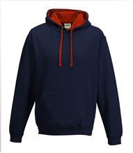 Picture of Varsity Hoodie New French Navy - Fire Red