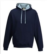 Picture of Varsity Hoodie New French Navy - Sky Blue