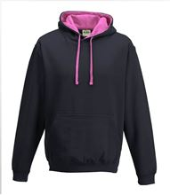 Picture of Varsity Hoodie Oxford Navy - Candyfloss Pink