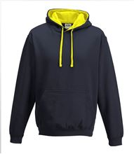 Picture of Varsity Hoodie Oxford Navy - Sun Yellow
