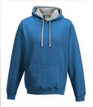 Picture of Varsity Hoodie Sapphire Blue - Heather Grey